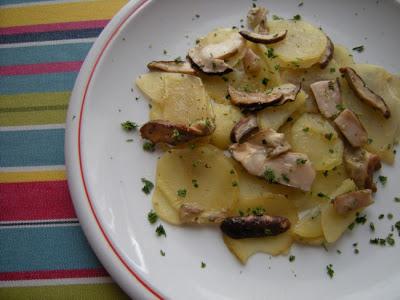 padellata di funghi e patate