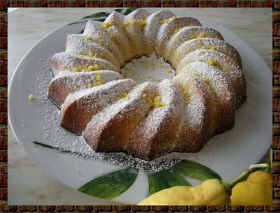 ciambella al limone e mandorle