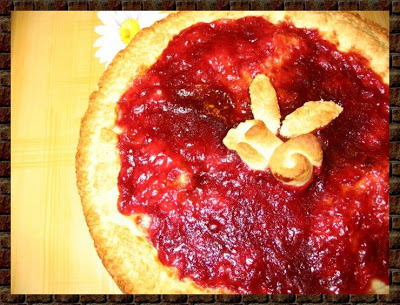 crostata light alla marmellata du fragole e alchermes