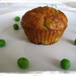 Muffins salati ai pisellini