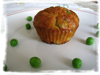 muffins salati ai pisellini