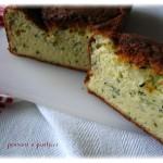cake salato alle zucchine e ricotta, profumato al basilico