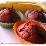 Muffins alla banana, noci e cioccolato