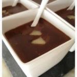 Crema al cioccolato con pere caramellate