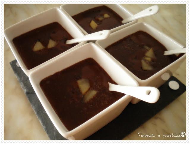 crema al cioccolato con mele caramellate