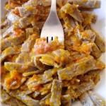 Pizzoccheri al sugo di zucca e salsiccia