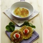 Frittelline snack con spinacini novelli