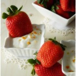 Fragole con cremina dolce ….fresh + fast!
