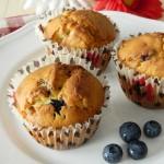 Muffins ai mirtilli e cioccolato bianco