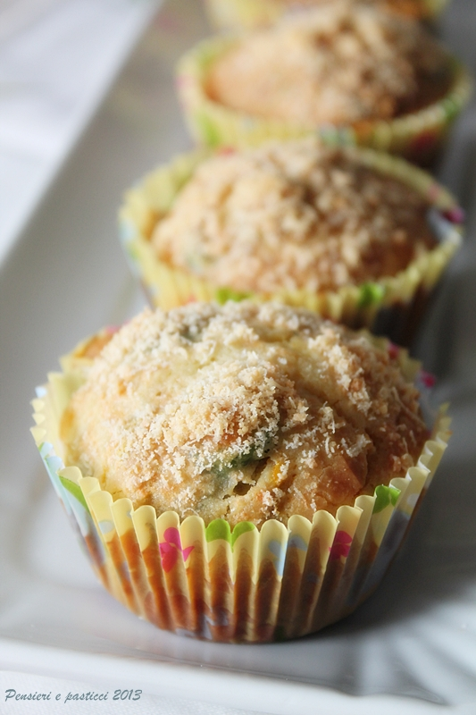 muffins salati alle zucchine fiori di zucca