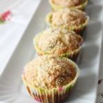 Muffins salati alle zucchine fiori di zucca e Parmigiano Reggiano