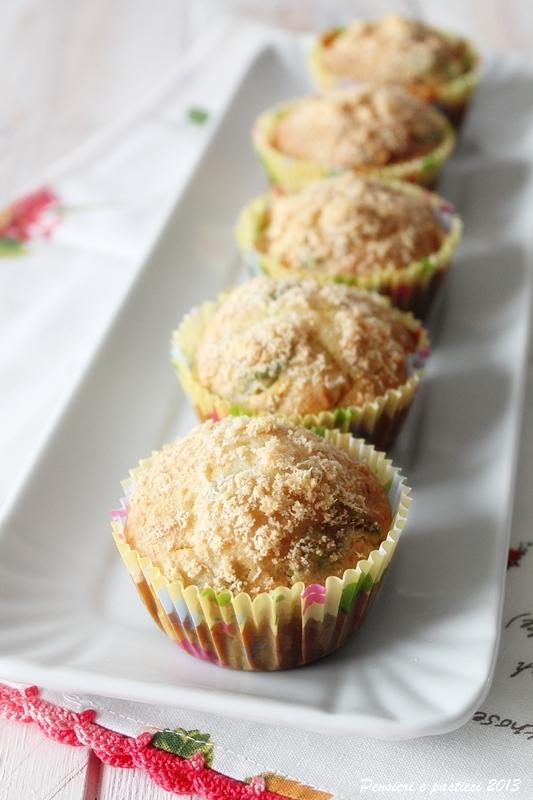muffins alle zucchine fiori di zucca e parmigiano