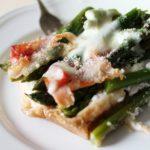 Gratin di asparagi al prosciutto crudo