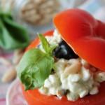 """Pomodori ripieni di formaggio ai profumi mediterranei…e """"un sapore nel cuore"""""""