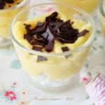 Bicchierini coccola di crema profumata al limone e meringa