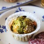 Muffins salati agli spinacini, formaggio e semi