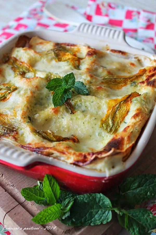 lasagne al pesto di zucchine