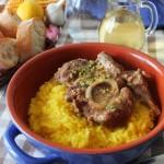 Risotto giallo con ossobuco, seconda puntata del mio pranzo di tradizione lombarda.