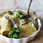Paccheri in crema di funghi bio e broccoli, ricetta di Marco Bianchi