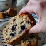 Cake integrale ai mirtilli e nocciole, senza lattosio