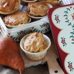 Muffins salati alla pera ed emmental, profumati alla salvia