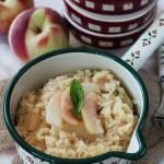 Il risotto alle pesche di Sveva, profumato al basilico e limone e….un dolcetto per il fine settimana