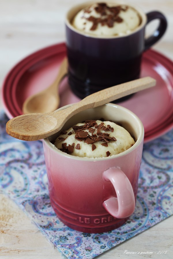 mug cake alla vaniglia