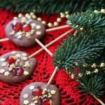 Lollipops di cioccolato al latte, e i miei più sinceri Auguri di Buon Natale!