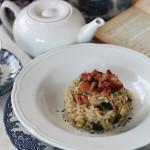 Risotto al tè affumicato, zucchine e dadolata di guanciale per Taste & More