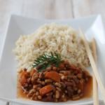 Stufato di fagioli allegri al cumino, carote e riso Thay integrale per Altromercato