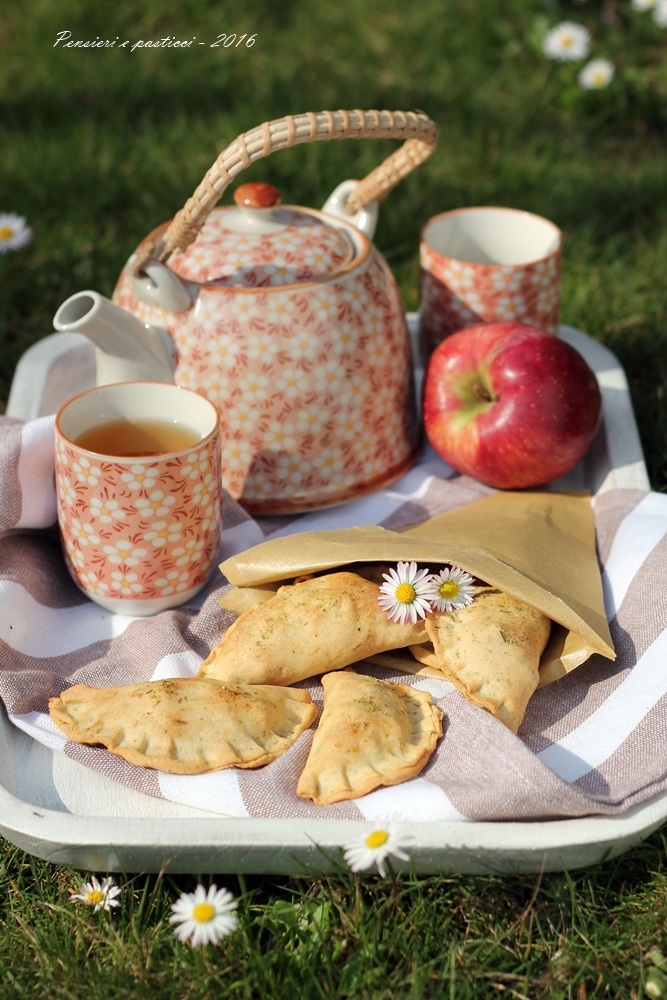 Fagottini di verdura, noci e tè Kukicha tostato