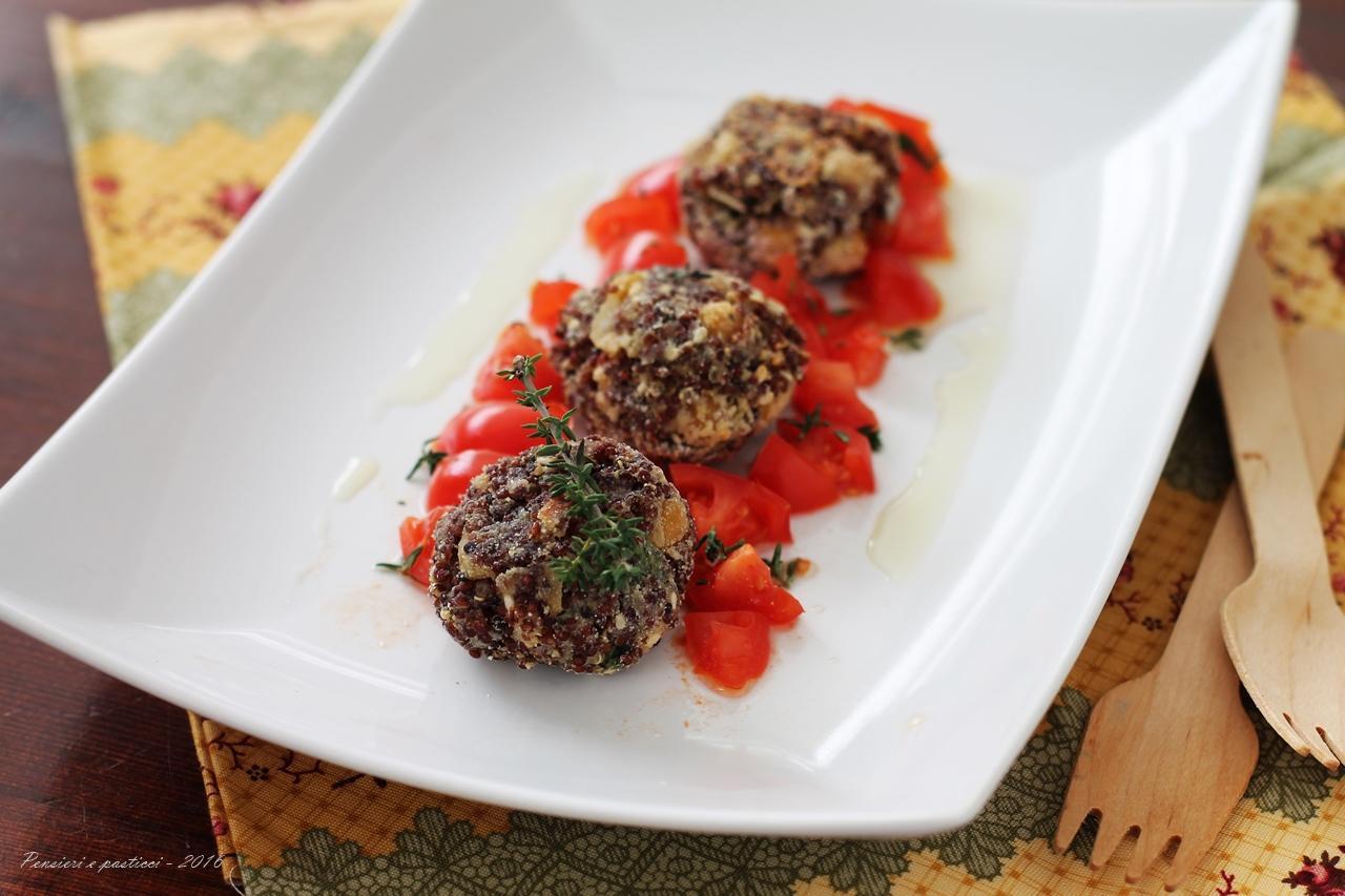 Polpettine-di-quinoa-rossa-ceci-e-sesamo-profumate-al-timo-