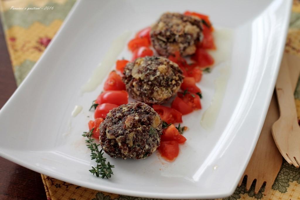 Polpettine di quinoa rossa ceci e sesamo profumate al timo.JPG-2 blog