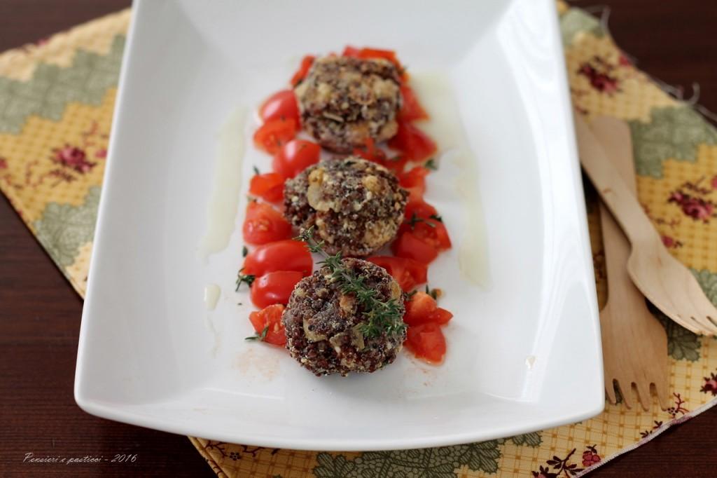 Polpettine di quinoa rossa ceci e sesamo profumate al timo.JPG-4 blog
