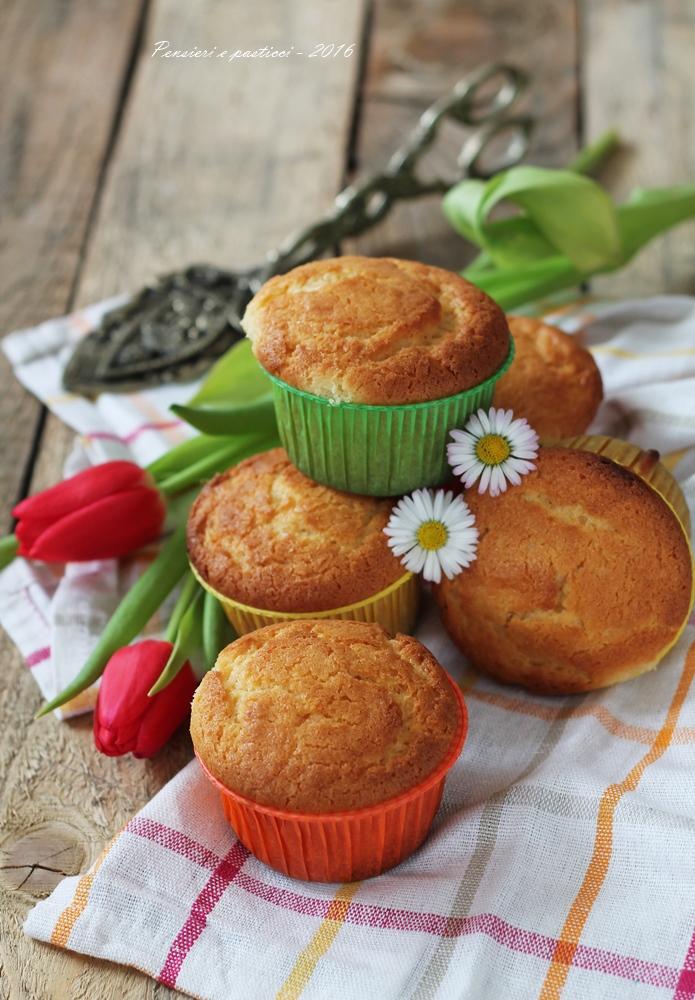 muffins alla ricotta e bergamotto