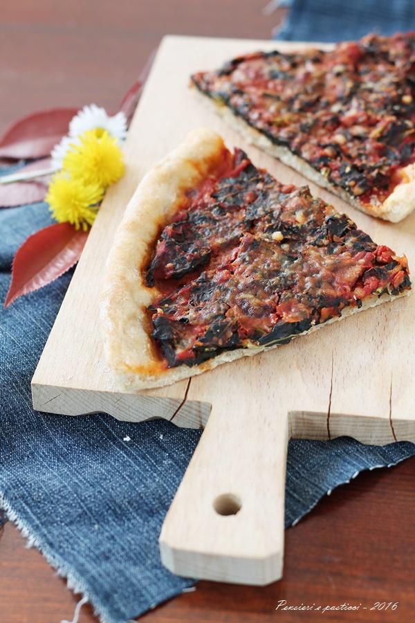 crostata salata al cavolo nero e pomodoro vallivo