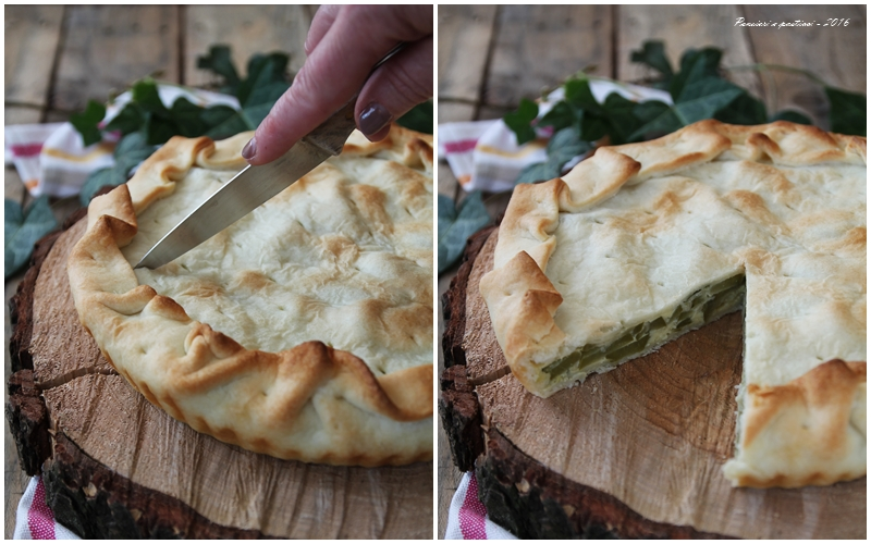Torta salata con zucchine trombette di Albenga 4