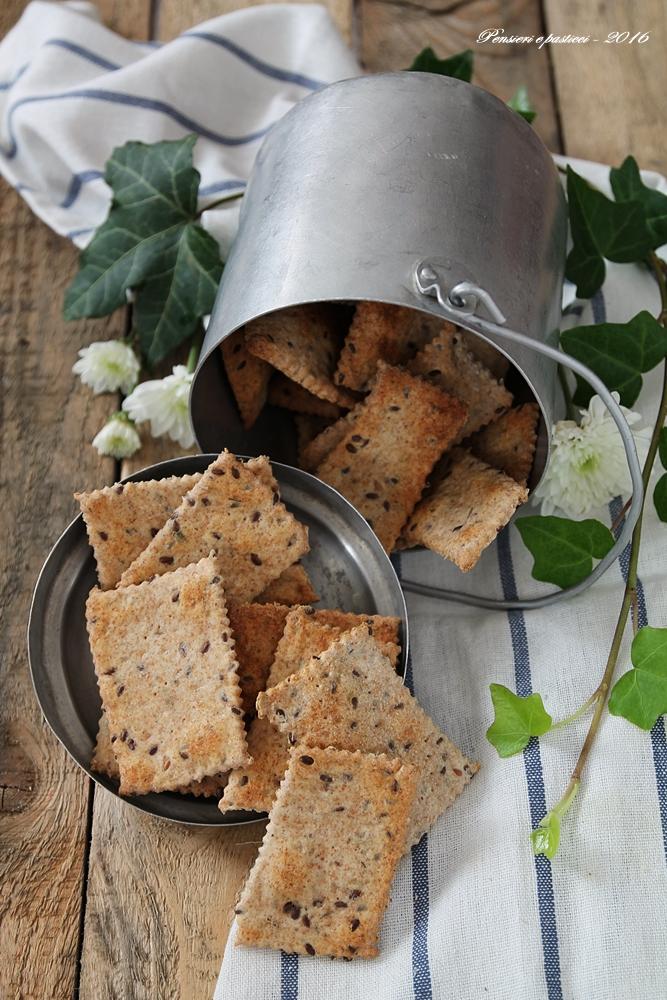 crackers integrali con erbe di provenza e semi di lino 2