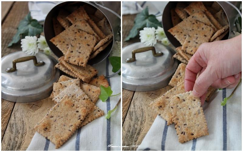 crackers integrali con erbe di provenza e semi di lino 4