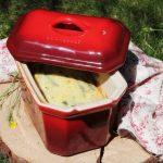 Clafoutis di fagiolini viola al timo limone per #seguilestagioni