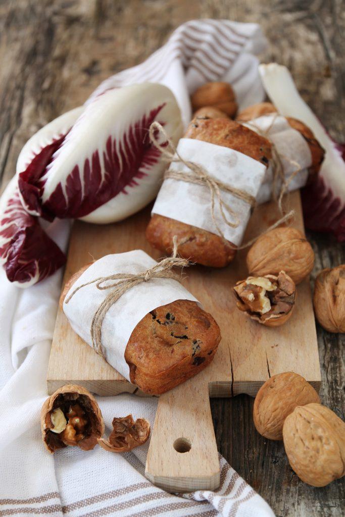 piccoli cakes al radicchio e noci 5