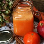 Centrifugato alla clementina, carota, mela e cannella