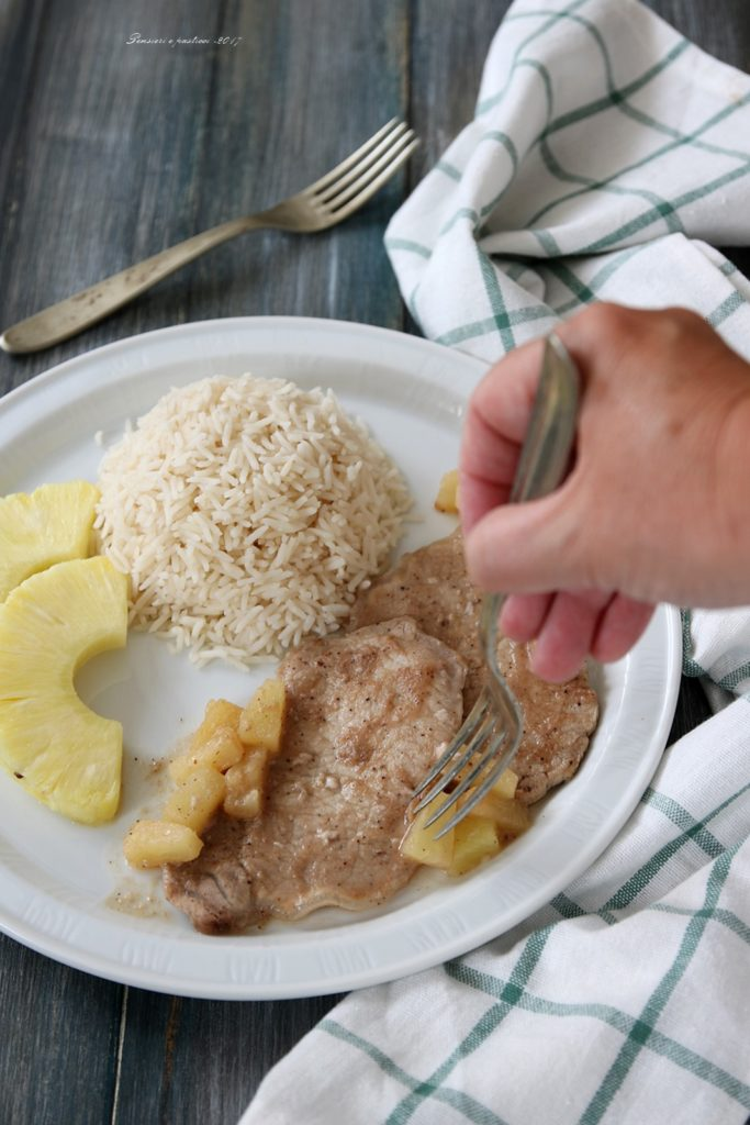 scaloppine all'ananas marinate alle spezie