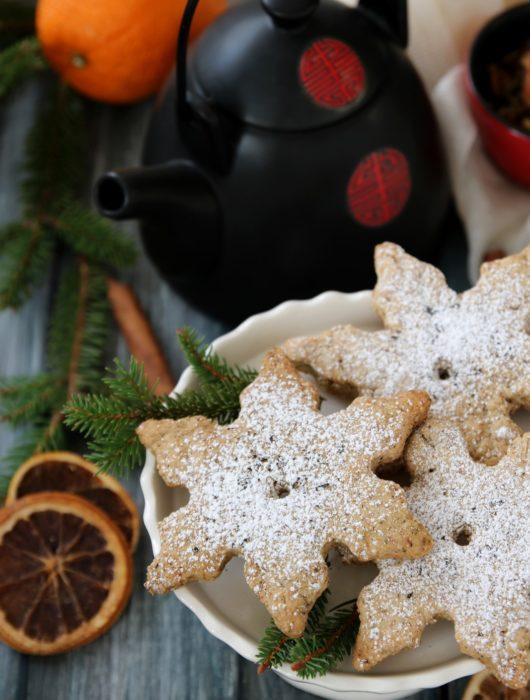 stelle di frolla vegana al tè Green Christmas