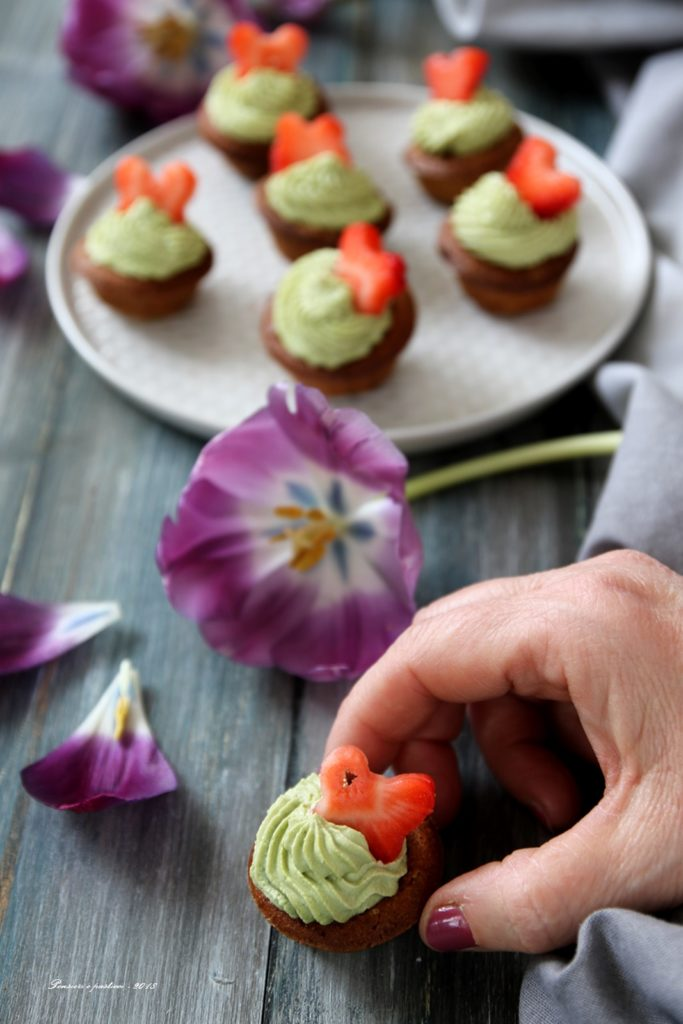 Mini cupcake al tè Matcha
