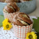 Muffins al cacao e pere, senza uova