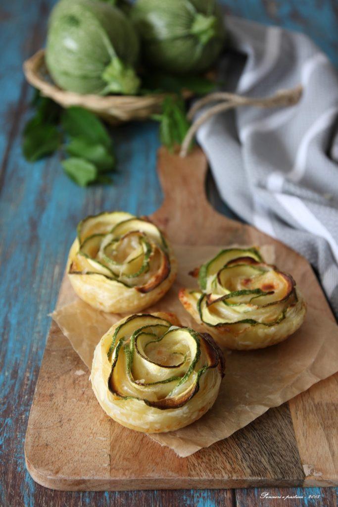 rose di sfoglia e zucchine