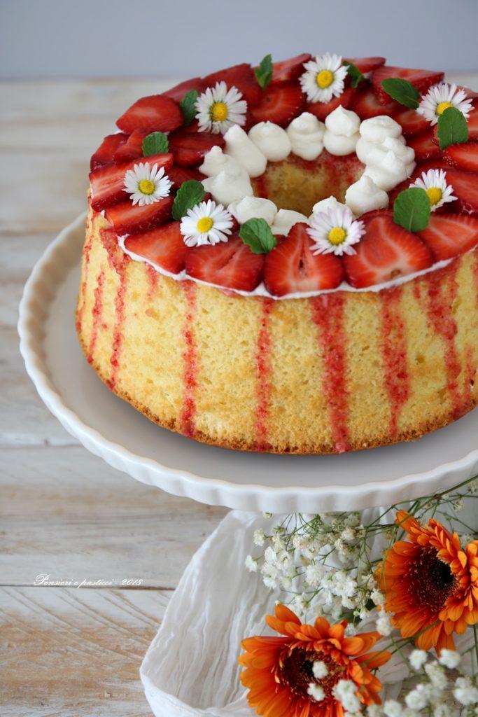 chiffon-cake-limone-crema-fragole