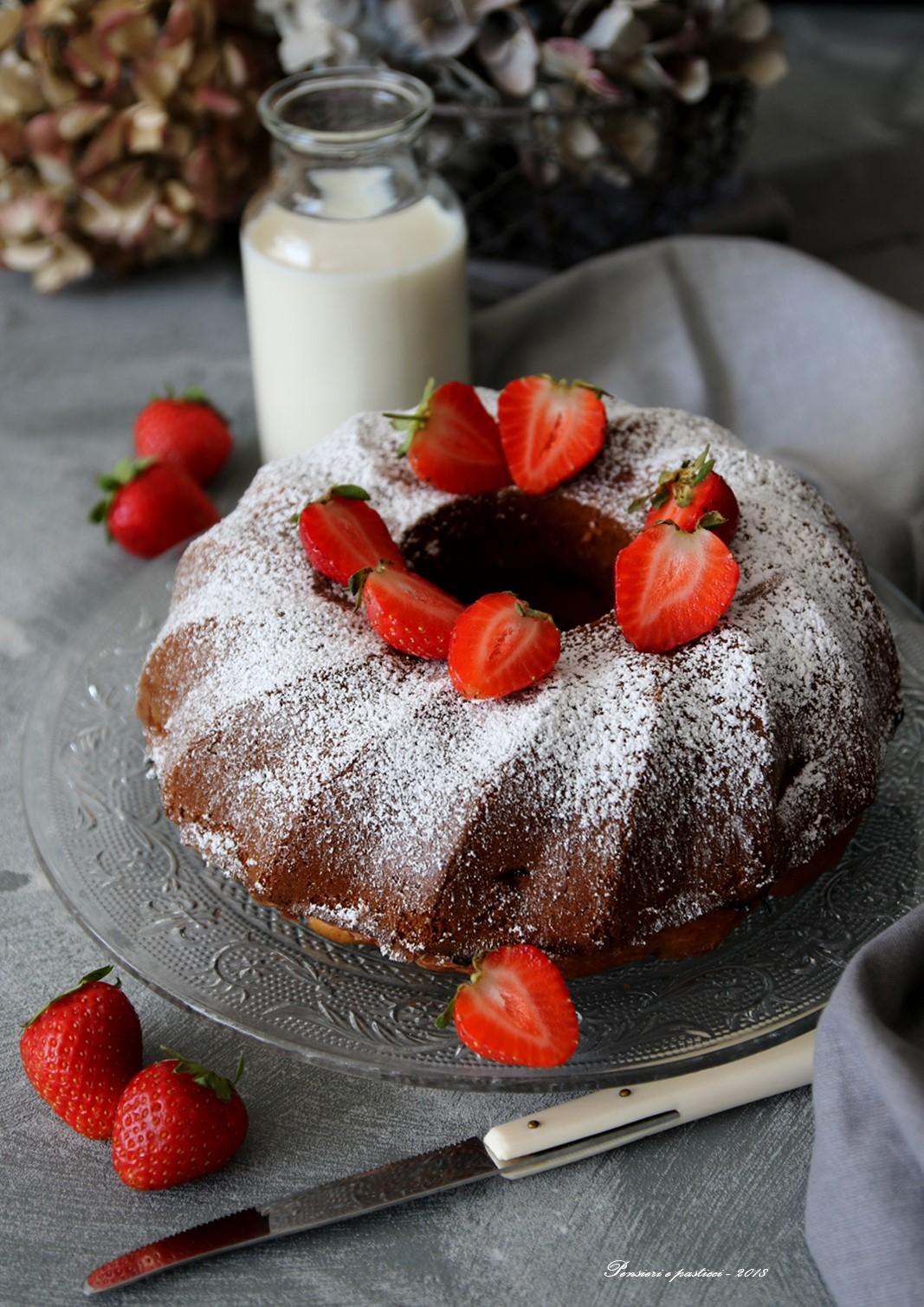 sponge cake alle fragole