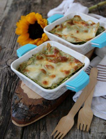 lasagne alle zucchine, salmone e provola